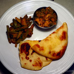 Naan, Dill Chicken and Parwal Sabzi