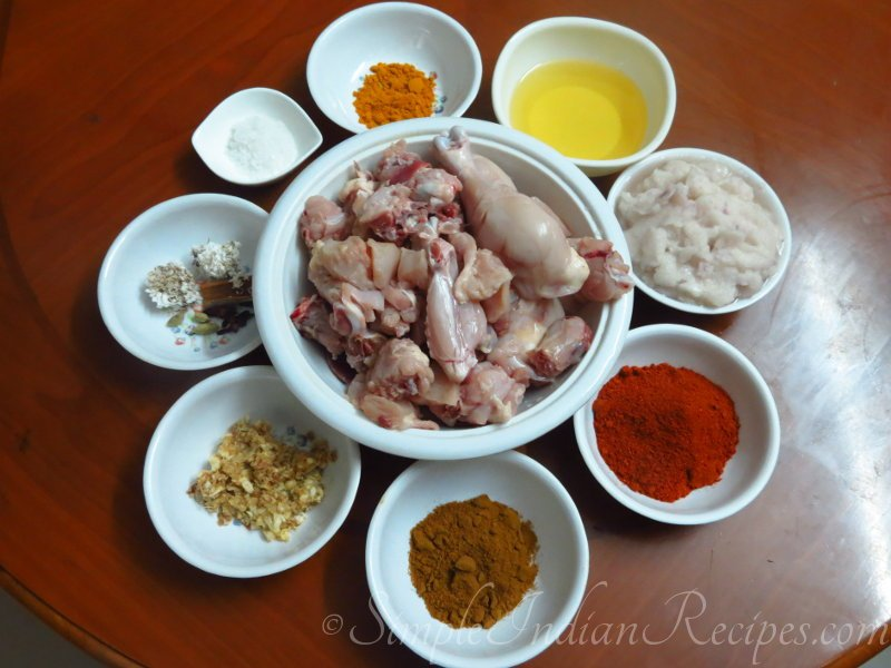 Natu Kodi Kura Ingredients