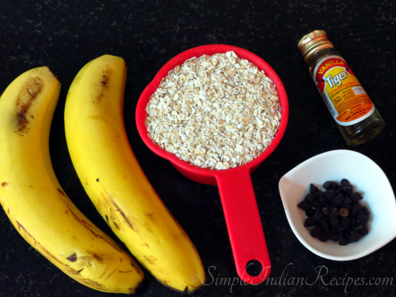 Ingredients for Oatmeal Cookie