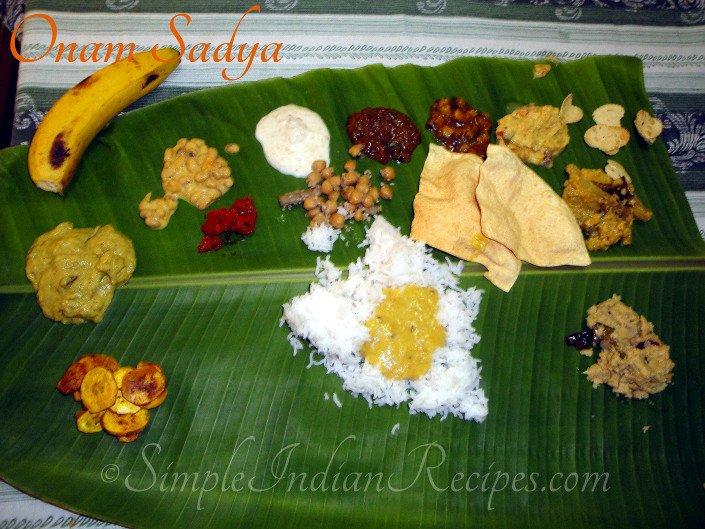 Onam Thiruonam Sadya Vibhavangal Sadya Menu Kerala