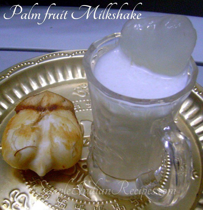 Palm Fruit Milkshake