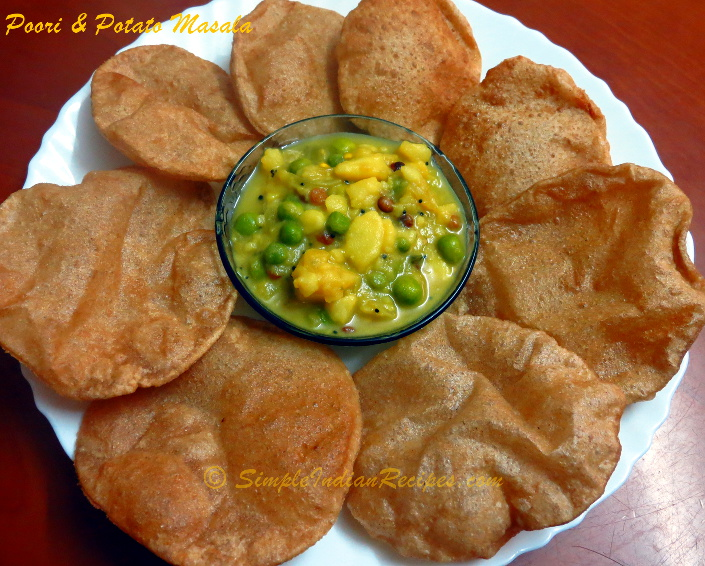 Poori with Potato Masala