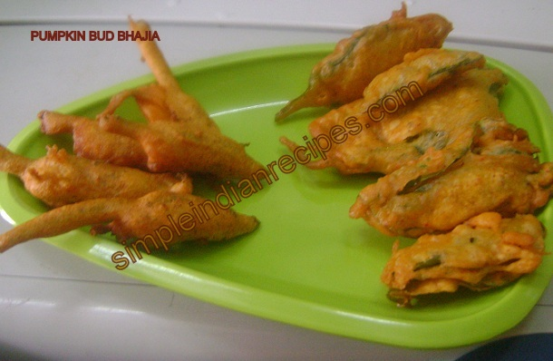 Pumpkin bud bhajia pumpkin flower pakoras simple indian recipes forumfinder Choice Image