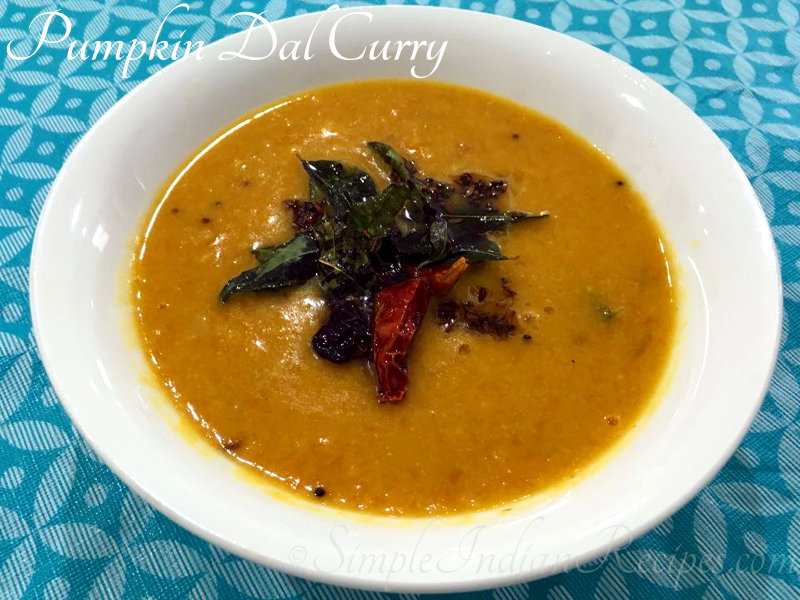 Yellow Pumpkin Dal Curry