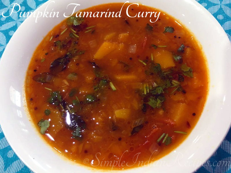 Pumpkin Tamarind Curry