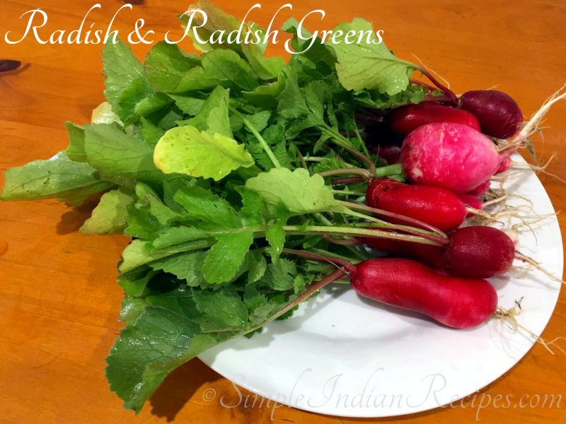 Red Radish with Greens