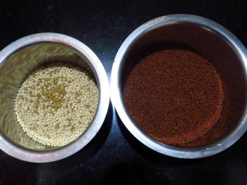 Ragi Idli / Dosa Preparation Step