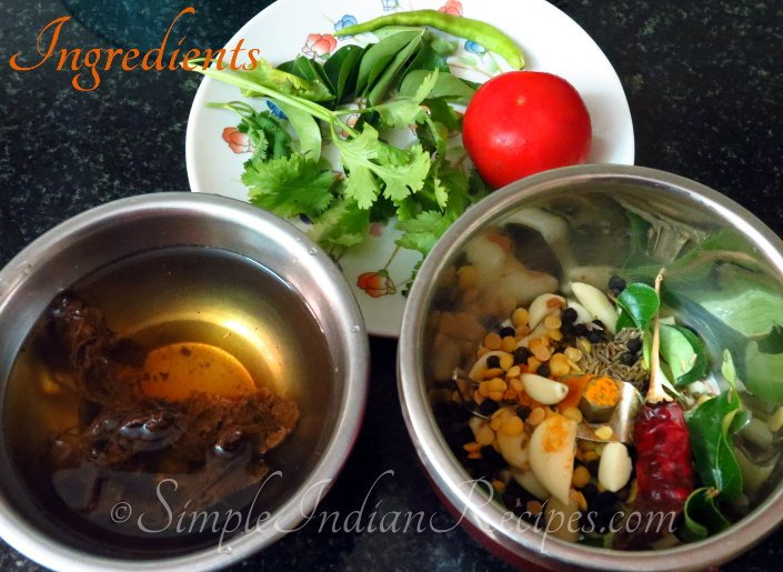 Rasam Ingredients