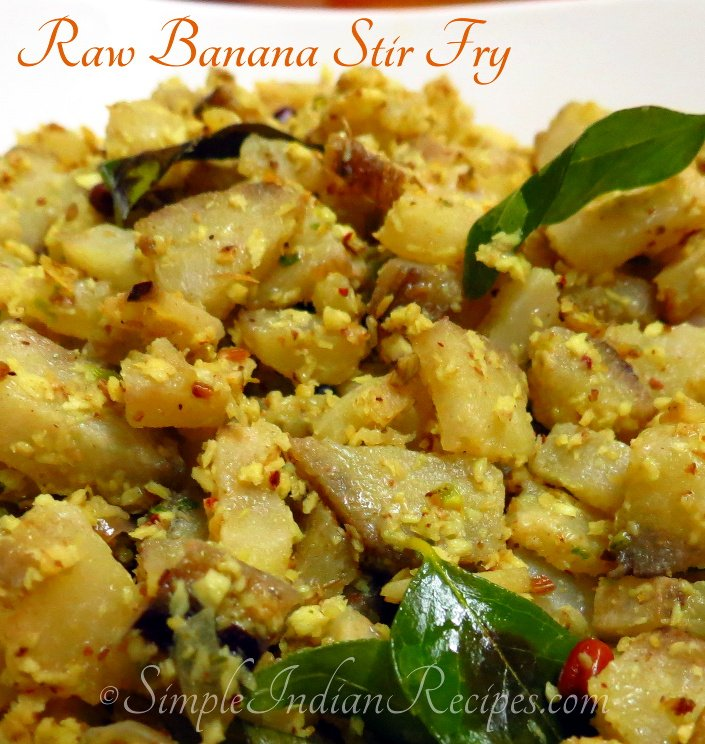 Raw Banana Stir Fry