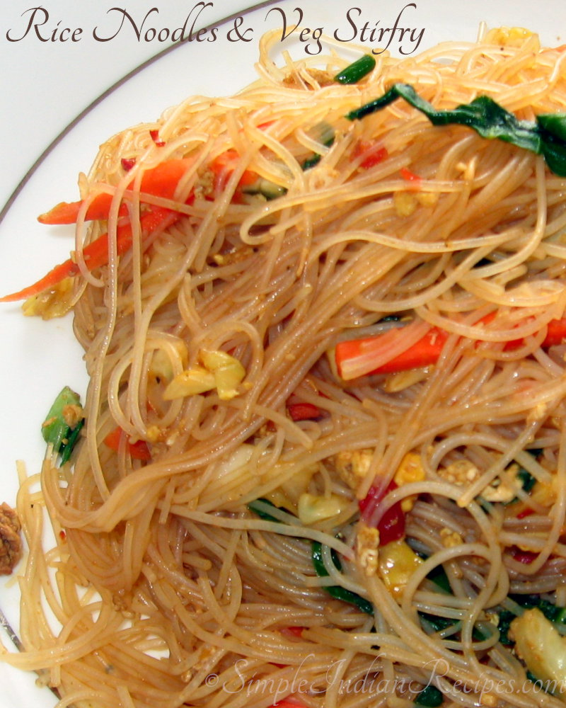 Noodles And Vegetables Stir Fry Simple Indian Recipes