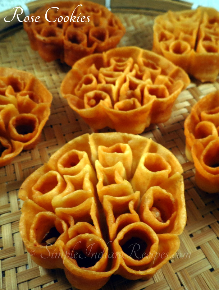 Rose cookies achu murukku simple indian recipes rose cooky is a famous south indian snack made during festivals it is known as achu murukku in tamil and malayalam and gulabi puvullu in telugu forumfinder Choice Image