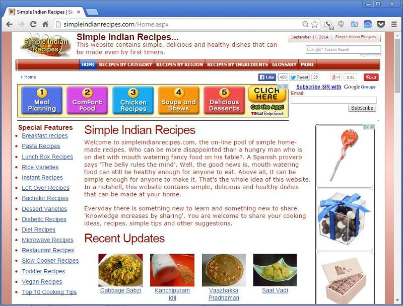 Simple Indian Recipes - History - version 2.0