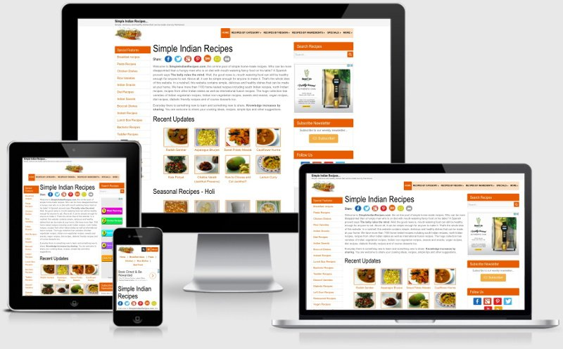 Simple Indian Recipes - History - version 3.4 Responsive
