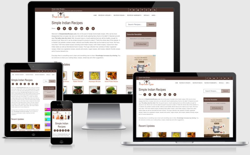 Simple Indian Recipes - History - version 4.0 Responsive