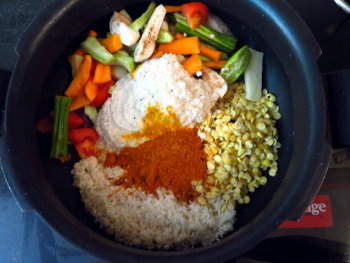 Sambar Rice Preparation Steps