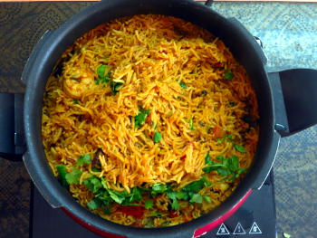Shrimp Biryani Preparation Steps