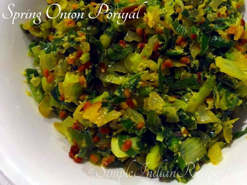 Spring Onion Poriyal