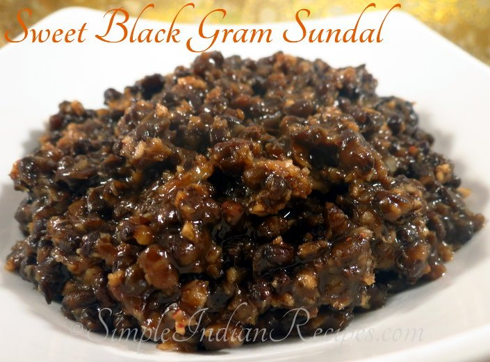 Sweet Black Gram Sundal