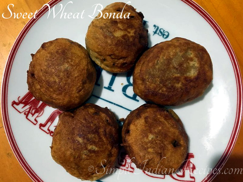 Sweet Wheat Bonda