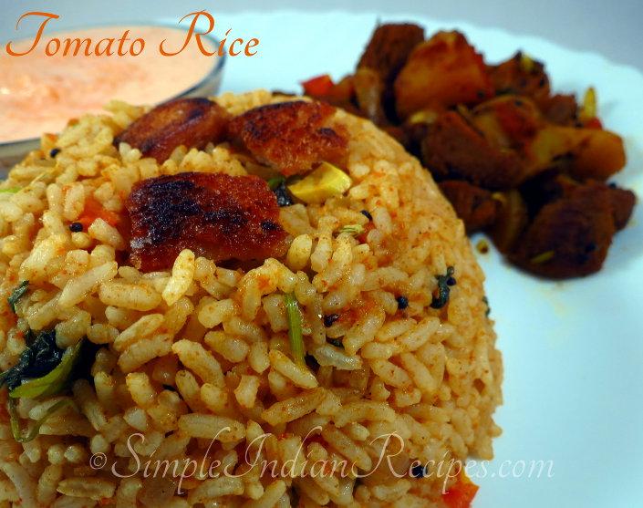 Tomato rice takkali sadam chitraanna simple indian recipes tomato rice forumfinder Gallery