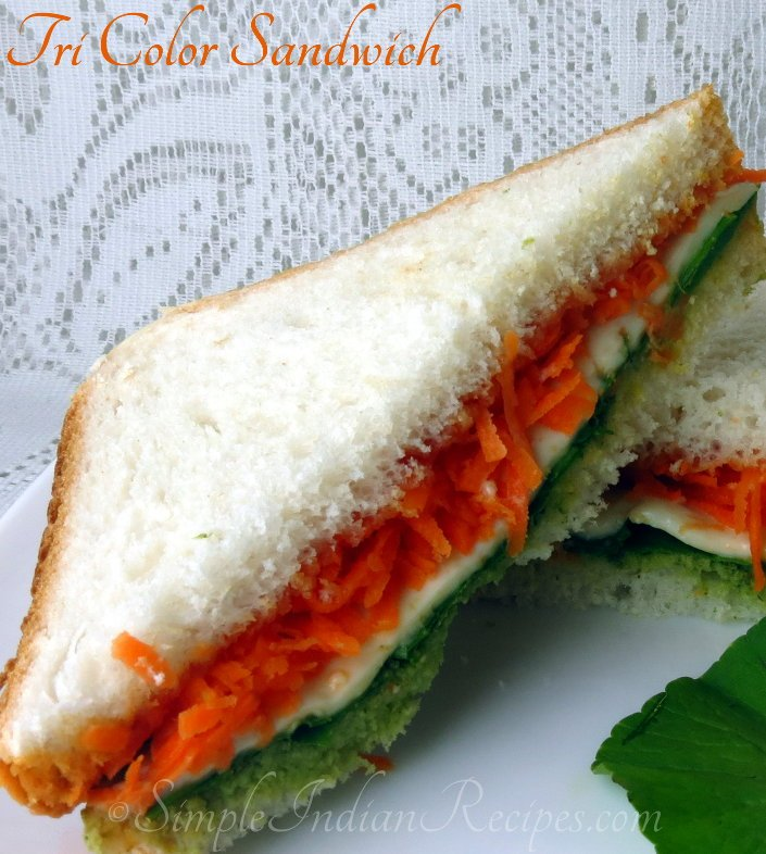 Tricolor Vegetable Sandwich