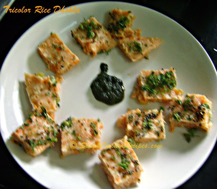 Tricolor Rice Dhokla