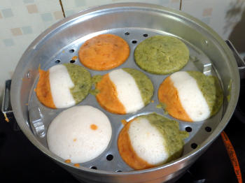 Tricolour Idli/ Dosa Preparation Step