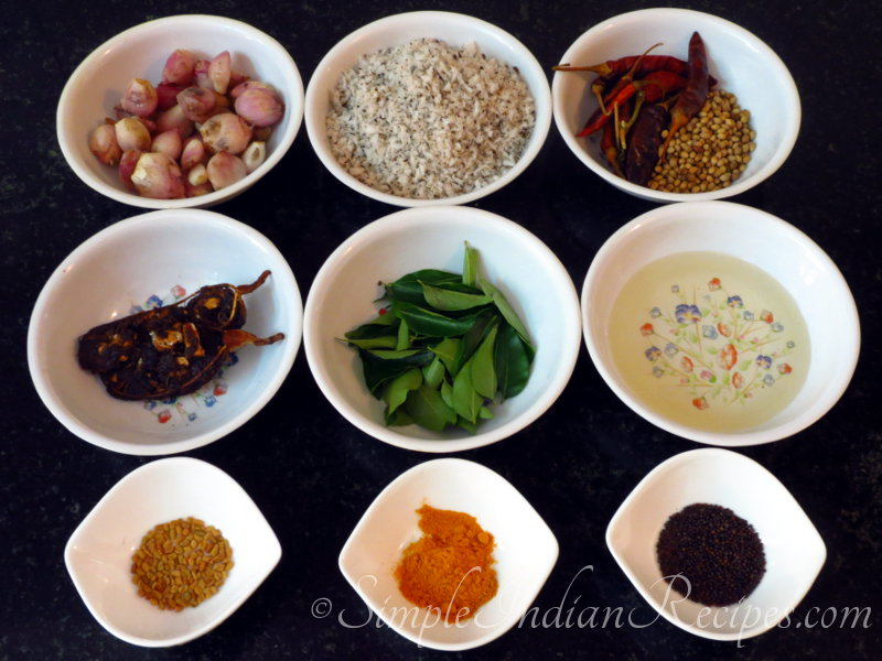 Ulli Theeyal Ingredients