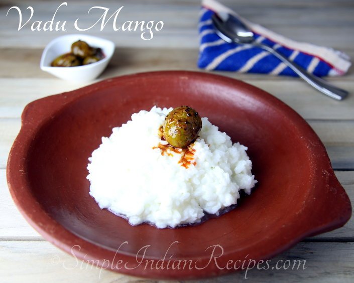 Vadu Mango With Curd Rice
