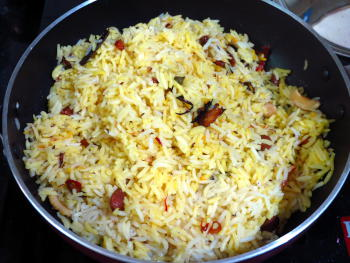 Zafrani Pulao Preparation Step