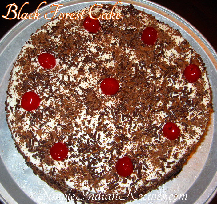 Eggless Black Forest Cake Recipe At Home