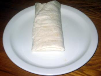 Burrito preparation step