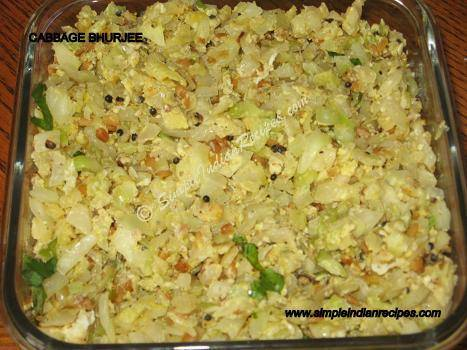 Cabbage Bhurji