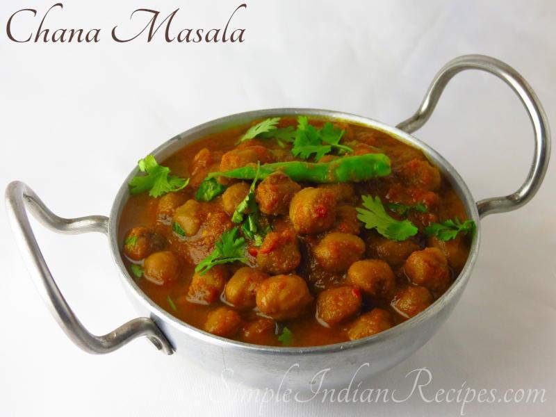 Chana Masala (Chole) - Chickpea curry | Simple Indian Recipes