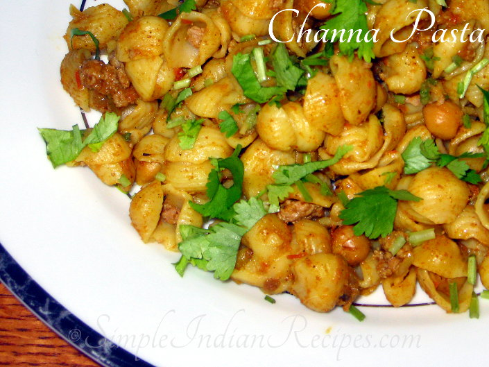 Channa pasta indian style chikpea curry pasta simple indian recipes on an another day my neighbor from lucknow was whining that all school going children these days eat only pasta and do not value the traditional roti dal forumfinder Gallery