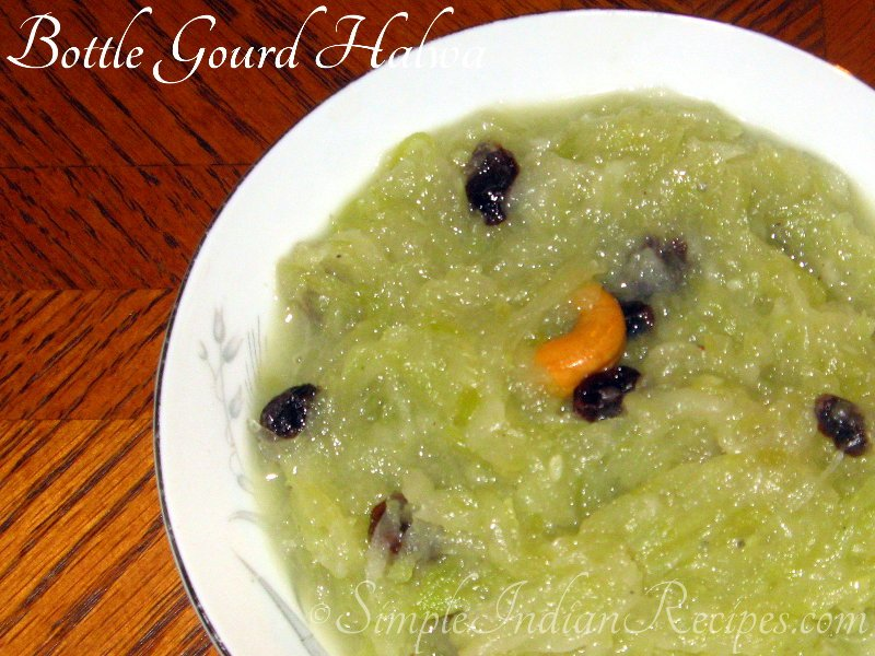 Doodhi Ka Halwa without food color