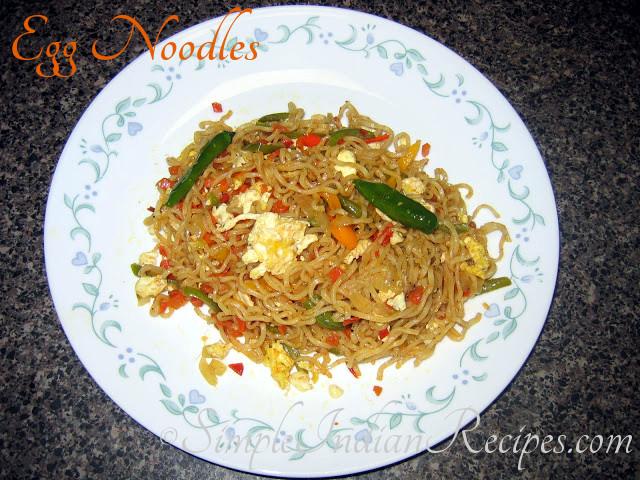 Egg noodles simple indian recipes egg noodles forumfinder Gallery