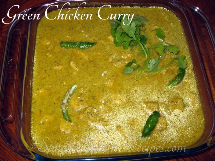 Green chicken curry hariyali murg simple indian recipes hariyali murg cilantro mint chicken curry herbal chicken curry hariyali chicken forumfinder Images