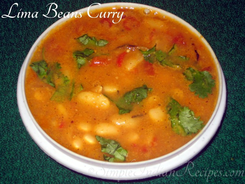 Lima Beans Curry (Butter Beans Curry)