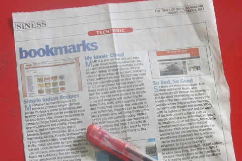 SimpleIndianRecipes.com in Times Of India