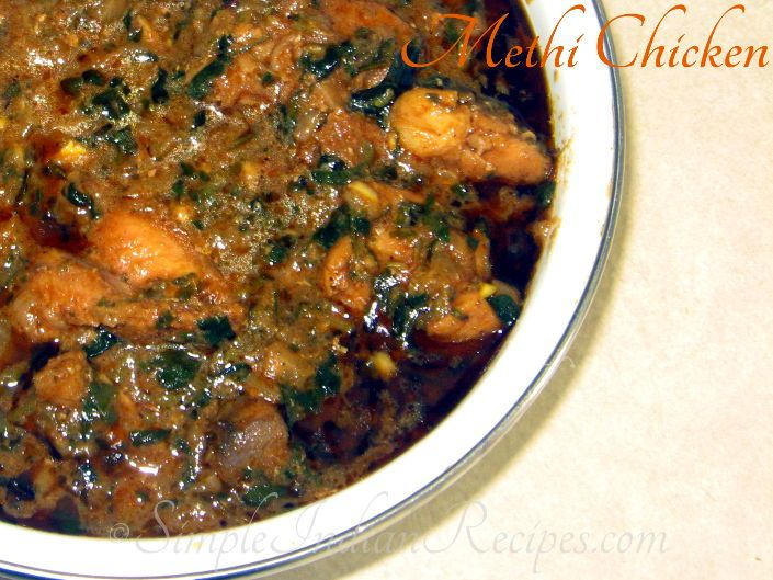 Fresh Methi Chicken