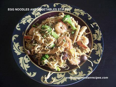 noodles and veg stir fry