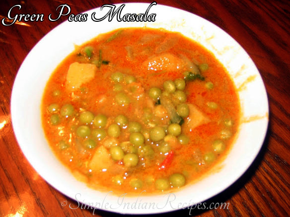 Patanni Kurma / Green Peas Curry
