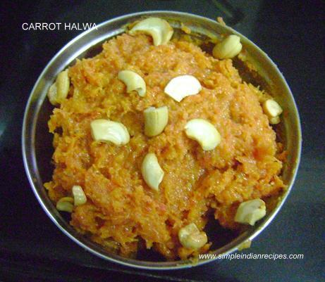 Quick Milk Powder Carrot Halwa