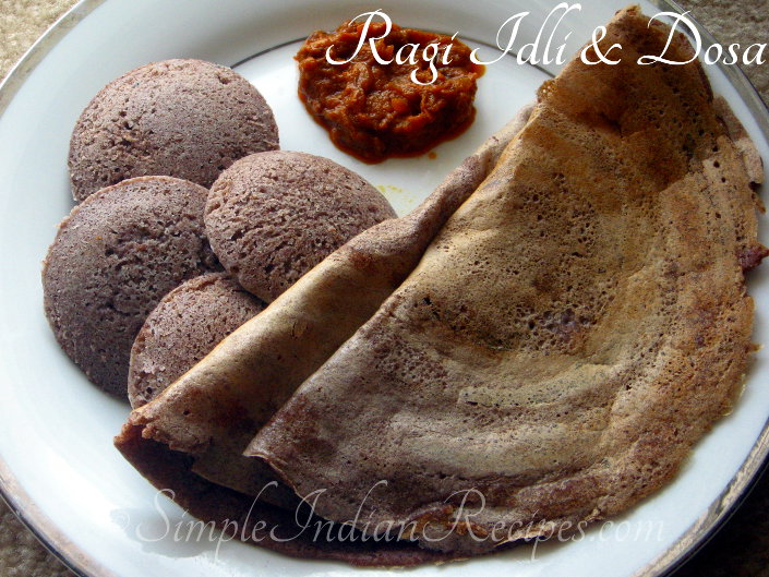 Ragi idli And Dosa
