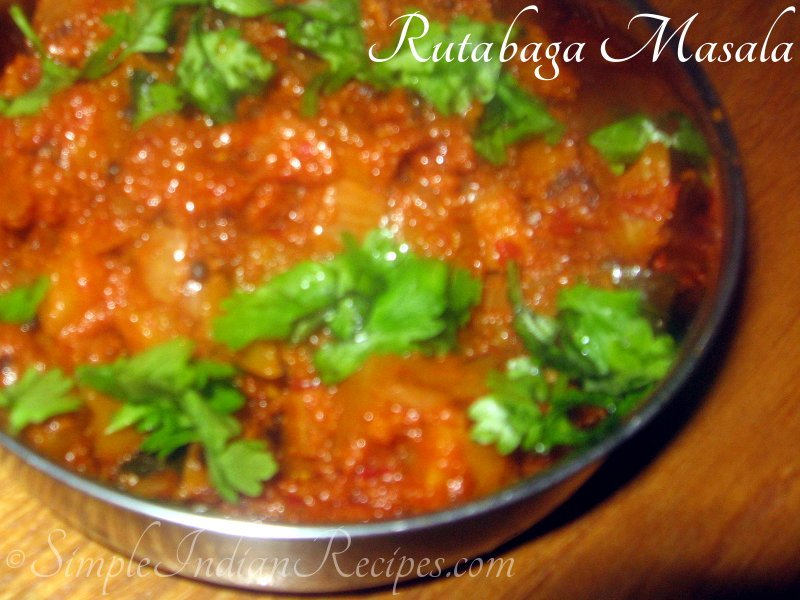 Rutabaga Masala | Simple Indian Recipes