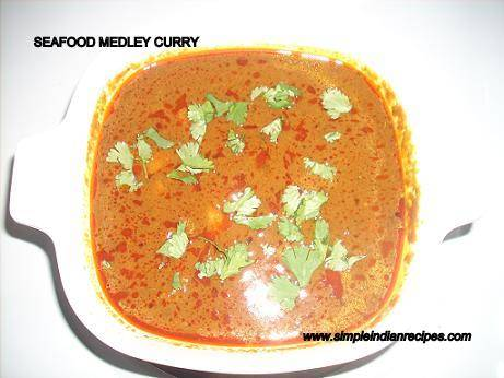 Seafood Medley Curry - Mixed Seafood Gravy | Simple Indian Recipes