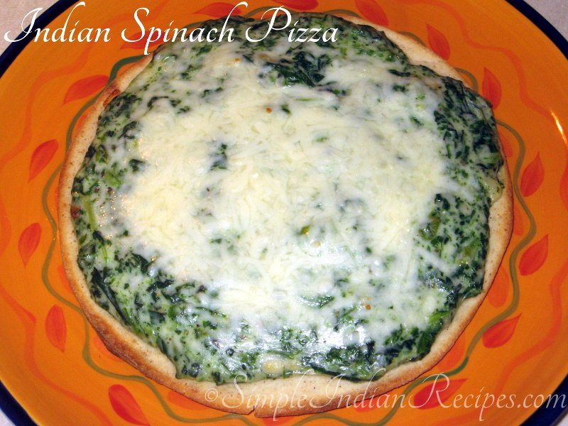 Indian Spinach Pizza