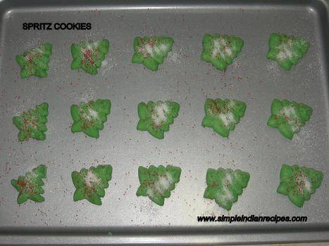 spritz cookies preparation steps