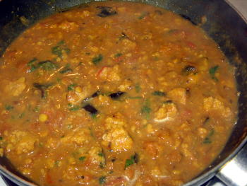 vada curry preparation step